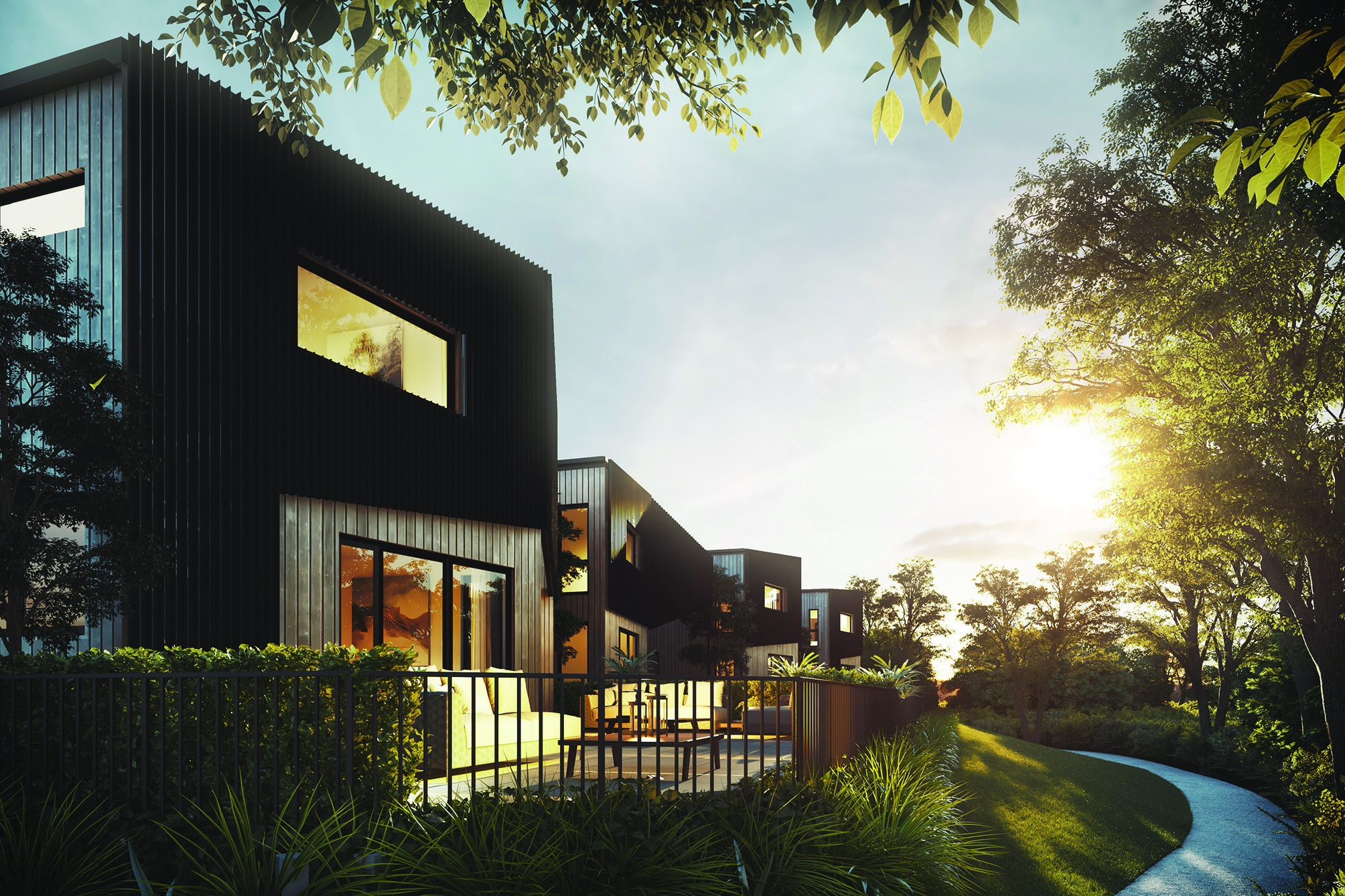 Headland Houses designed by Bossley architects